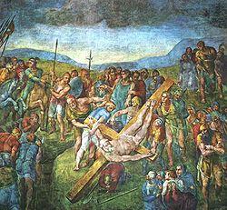 Michelangelo: Aziz Peter'in çarmıha gerilişi