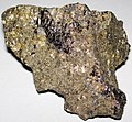 Massive Pt-Pd-rich sulfide (platinum-palladium ore) (Johns-Manville Reef, Stillwater Complex, Neoarchean, 2.71 Ga; Stillwater Mine, Beartooth Mountains, Montana, USA) 3.jpg