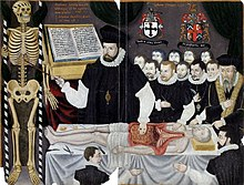 The Paintings Comprise A Portrait Of Banister Delivering Visceral Lecture At Barber Surgeons Hall Monkwell Street London C 1580