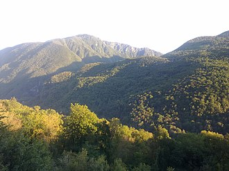 Matajur - View of Matajur from the village of Borjana (southwestern Slovenia)