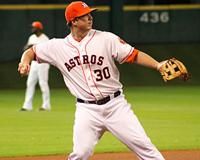 Matt Dominguez at Minute Maid Astros August 30 2014.jpg