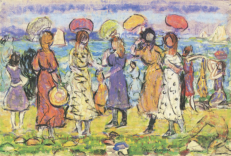 File:Maurice Prendergast (1858-1924) - Sunny Day at the Beach (Unknown).jpg