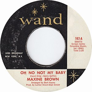 Oh No Not My Baby - A-side label of U.S. vinyl single