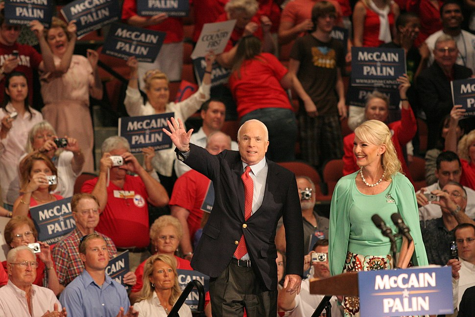 McCains campaigning September 15, 2008