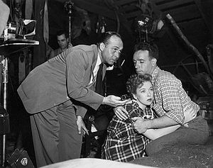 Ted McCord (cinematographer) - McCord (left) filming Deep Valley, 1947
