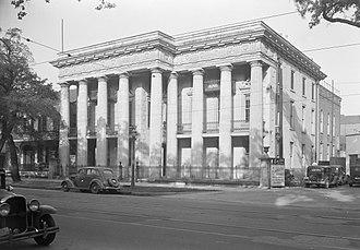 McGill–Toolen Catholic High School - The original McGill Institute building, demolished in 1955.