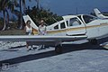 Me and Helen Corell.Great Harbour Key airstrip (24005166357).jpg