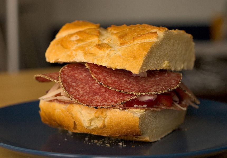 Ветчина гамбургер завтрак  № 2141467  скачать