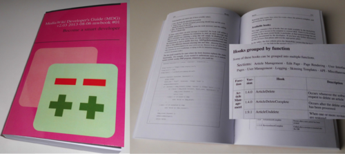 MediaWiki Developer's Guide - photos of a printed book.png