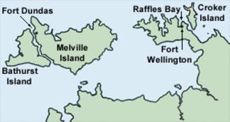 Fort Wellington, Australia - Location of Raffles Bay and Fort Wellington