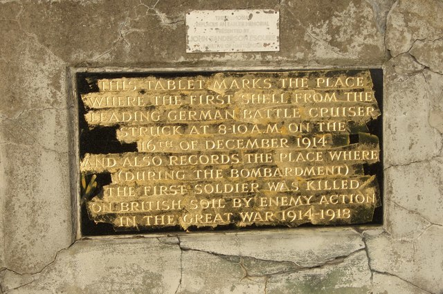 Memorial to the first British soldier killed on British soil during the Great War - geograph.org.uk - 429905