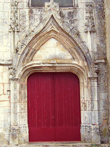 Église Saint-Menge de Merry-Sec, portail ouest