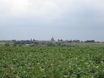 View on the city of Mesen, as seen from the Wu...