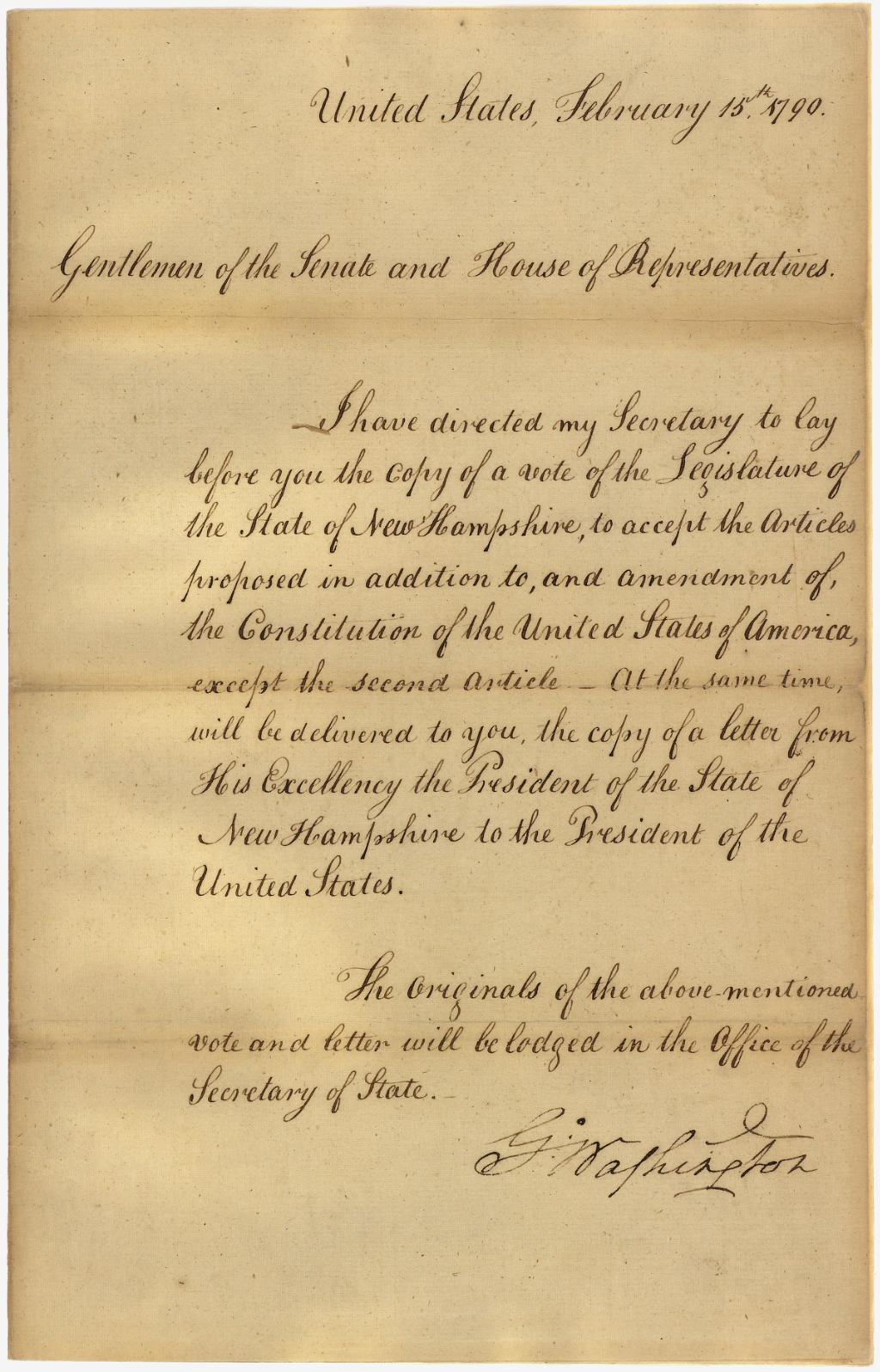 to his excellency general washington poem