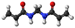 Ball-and-stick model of the methylenebisacrylamide model