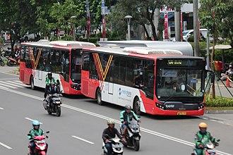 TransJakarta - Two Metro Trans buses