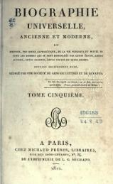 Michaud - Biographie universelle ancienne et moderne - 1811 - Tome 5.djvu
