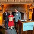 Michelle Lujan Grisham receives EDF award from Tom Udall in 2019.jpg