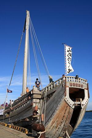 Kitamaebune - The Michinoku Maru, a modern reconstruction of a kitamaebune