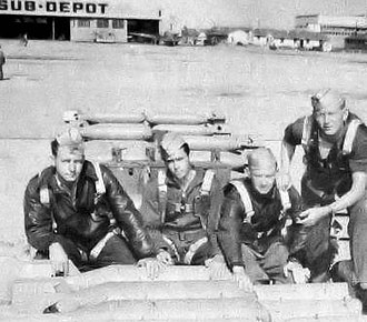 Midland Army Airfield - Image: Midland Army Airfield Loading Concrete Practice Bombs