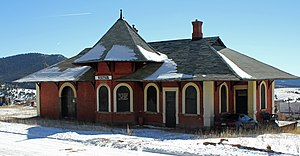 Colorado Midland Railway - Midland Terminal Railroad Depot (Victor, Colorado)