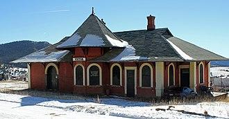 Colorado Midland Railway - Midland Terminal Railroad Depot (Victor, Colorado)