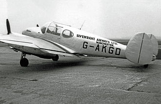 Miles Gemini - Gemini 1A of Sivewright Airways operated from Manchester (Ringway) Airport on light charter work 1947 until 1950