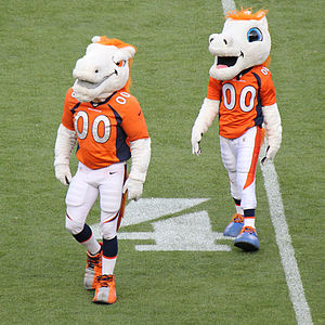 Miles (mascot) - Miles (left) and a second mascot (right) that appeared in the beginning of the 2015 NFL preseason