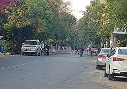 Military blocked Mandalay Region Government Office.jpg
