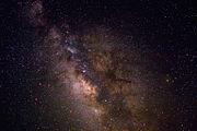 Le bulbe galactique.  Les étoiles primaires de la constellation du Sagittaire sont entourées en rouge.