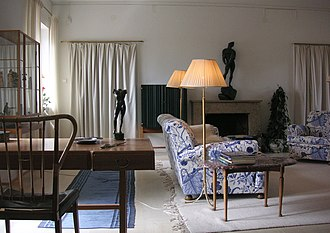 Svenskt Tenn - A living room, designed by Ericson and Frank, situated in the curator's building, called Annes Hus, which was built and constructed by Evert Milles in Stockholm's Millesgården on the island of Lidingö.