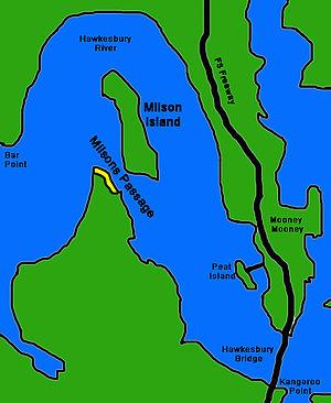 Milson Island - Image: Milsons Passage & Milson Island