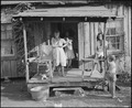 Miners' wives and children on the front porch of a typical, fifty year old house. Kentucky Straight Creek Coal... - NARA - 541201.tif