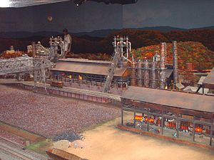 Miniature Railroad & Village - The replica of the Sharon Steel Mill.