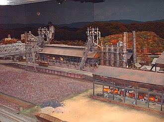 Miniature Railroad & Village - The replica of the Sharon Steel Mill.