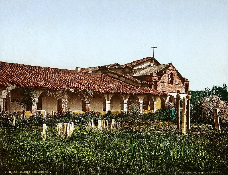 Mission San Antonio de Padua, Monterey County, California, 1898.jpg