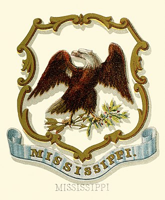 Coat of arms of Mississippi - Historical coat of arms (1876)