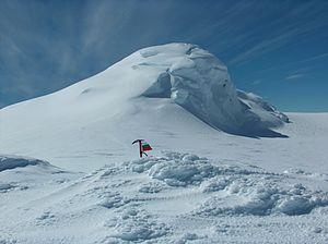 Miziya Peak - Miziya Peak from Zemen Knoll.