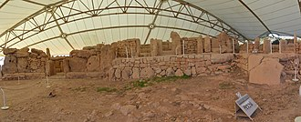 Mnajdra - Upper temple panoramic