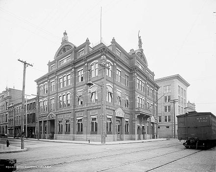 Mobile Cotton Exchange and Chamber of Commerce building, completed in 1886 Mobile Cotton Exchange.jpg