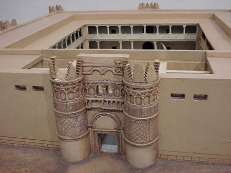 مجسم يصور قصر الحير الغربي