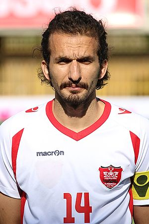 Mohammad Nouri (footballer) - Nouri before a match with Persepolis, 26 April 2015