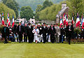 Monique Benier, center left, the mayor of Belleau, France, and other dignitaries arrive at the Aisne-Marne American Cemetery and Memorial in Belleau for a Memorial Day ceremony May 26, 2013 130526-M-XI134-003.jpg