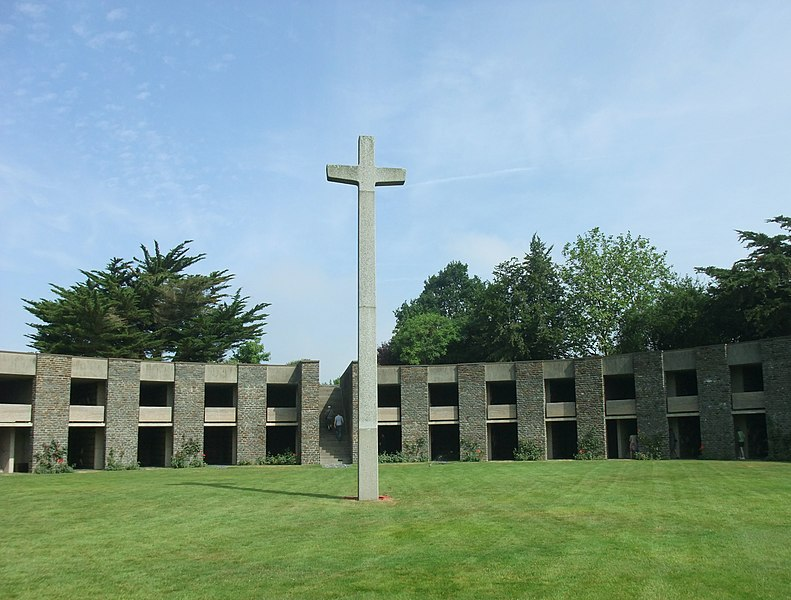 German War Cemetery at the Mont d'Huisnes, Normandy, France