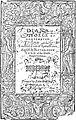 Montemayor's Diana, Yonge's translation (1598) title page.jpg