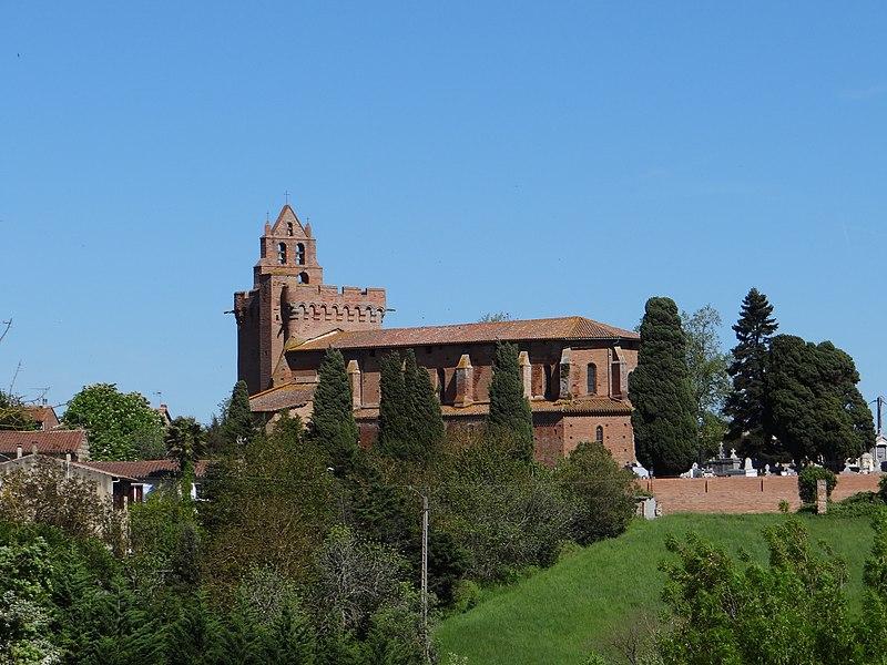 L'église de Montgeard vue du sud