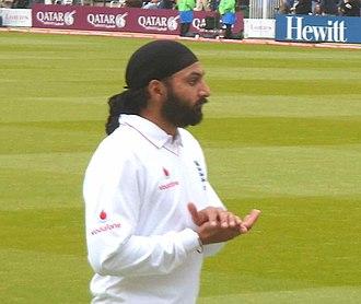 Monty Panesar - Panesar at Lord's playing for England v New Zealand, May 2008