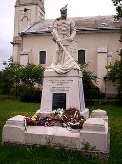 World War I Memorial in Solt, Hungary.