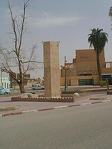 Il monumento a Citroën nella città di Touggourt in Algeria, da dove partì la prima spedizione del 1922