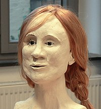 One of four facial reconstructions